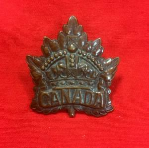 WW1 Canadian Corp Expeditionary Force Cap Badge