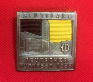 WW2 German Turnfest Stuttgart 1933 Day Badge