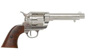 Code: G1106/NQ Replica Colt Peacemaker With Wooden Handle Nickel Finish 1869