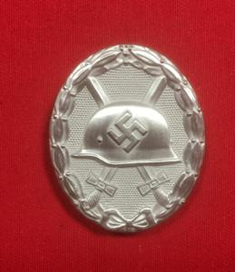 Replica WW2 German Wound Badge in Silver