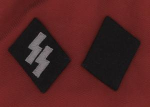 Replica WW2 German Waffen S.S. Enlisted Man's Collar Patches