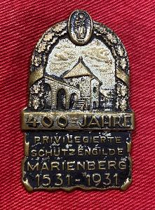 Weimar Era Marienberg Guard Guild 400th Anniversary Badge