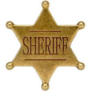 Code: G106 Replica  Six Point Ball Tipped Sheriff Badge