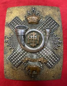 Victorian H.L.I. Officers Silver Cross Belt Plate