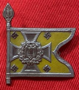 WW2 German Winterhilfswerk Cavalry Miniature Standard