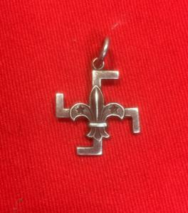 British Early Boy Scouts Silver Fylfot/Swastika Good Service Pendant