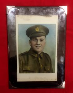 WW1 British Soldier Glass Framed Photograph