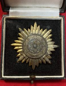 WW2 German Cased Eastern People's Award 1st Class In Gold With Swords