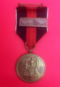 WW2 German 1st October Medal With Prague Castle Bar