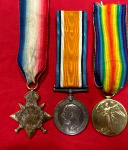 WW1 British Medal Trio Cameron Highlanders