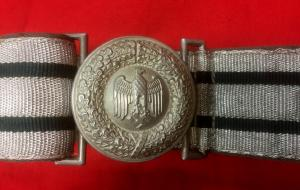 WW2 German Army Officer's Brocade Belt & Buckle