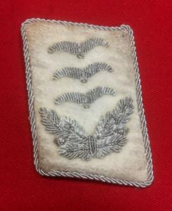 WW2 German Luftwaffe Hermann Goring Division Hauptmann Collar Patch