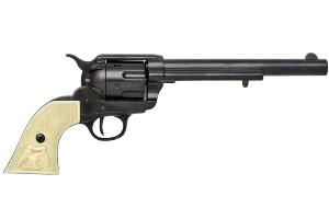 Code: G1109N Replica Colt Peacemaker With Ivory Handle Black Long Barrel 1869