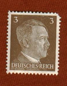 WW2 German Hitler Three Pfennig Postage stamp