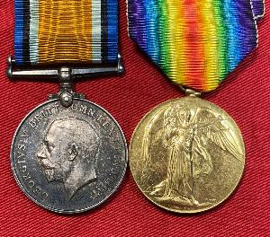 WW1 British Victory and War Medal Pair