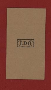 Replica WW2 German  'LDO' Award Paper Envelope
