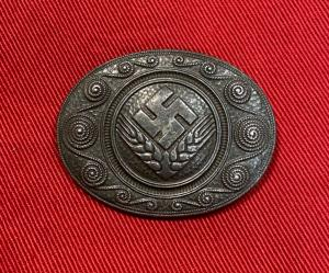 WW2 German R.A.D.wj   Service Brooch