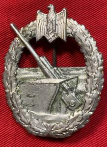 WW2 German Kriegsmarine Coastal Artillery Badge