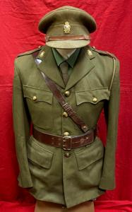 WW2 British Royal Army Ordnance Corp Officer's Tunic,Cap & Uniform Items