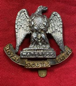 WW2 Royal Scots Greys Cap Badge