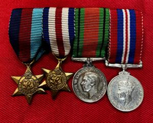 WW2 British Four Medal Miniature Set