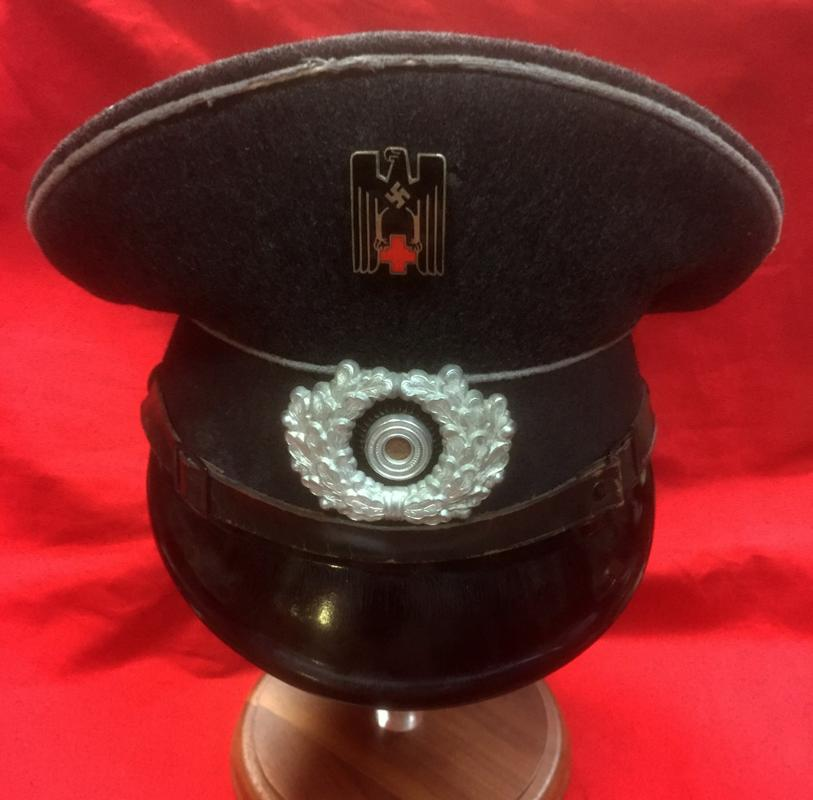 WW2 German DRK Visor Cap