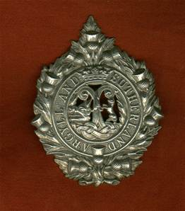 WW2 Argyll and Sutherland Highlanders Cap Badge,