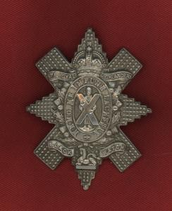 WW2 British Black Watch Cap Badge
