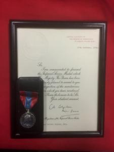 British Imperial Service Medal & Citation