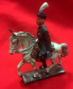 WW2 German Lineol Mussolini Mounted Figure