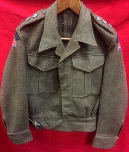 WW2 British Indian Army 7th Light Cavalry Officers 40 Pattern Battledress Blouse