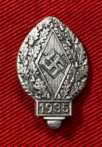 WW2 German Hitler Youth Sports Festival 1935 Badge