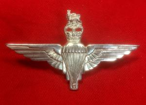 British Para Officer's Silver Hallmarked Para Wings Badge