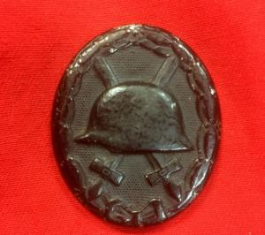 WW2 German DeNazified Black Wound Badge