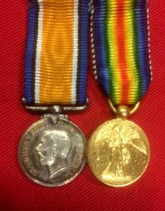 WW1 British Victory and War  Medal Miniature Pair