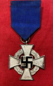 WW2 German Faithful Service Cross In Silver