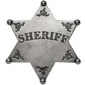 Code: G101 Replica Six Point Ball Tipped Sheriff Star Badge