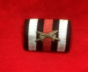WW1 German Cross Of Honour With Swords Ribbon Bar