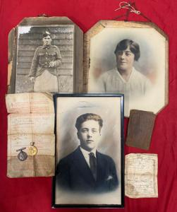 WW1  Argyll & Sutherland  Highlanders Medals, Paybook & Family Portraits