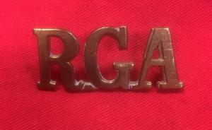 WW1 British Royal Garrison Artillery Shoulder Title