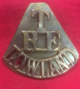 WW1 British Royal Engineers Lowland Territorials Shoulder Title