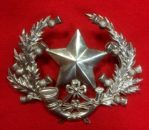 WW1 Cameronians Officers Silver Hallmarked Glengarry Badge