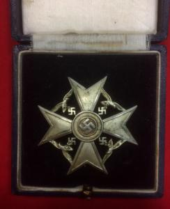 WW2 German Silver Spanish Cross Without Swords