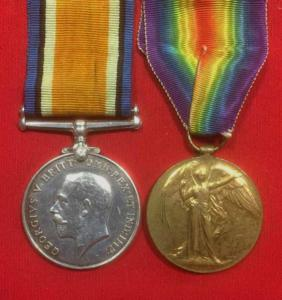 WW1 British Victory & War Medal Pair