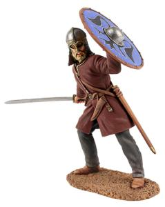 62103 Viking Wearing Gjermundbu Helmet Swinging Sword