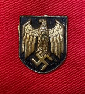 WW2 German Tropical Helmet Eagle Shield