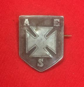 British 1921 Silver Hallmarked Badge