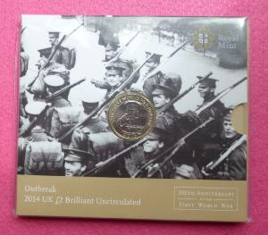 Royal Mint 2014 First World War Two Pound Coin