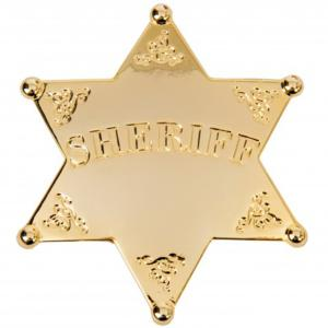 Code: G5101 Replica Gold Sheriff Star Badge