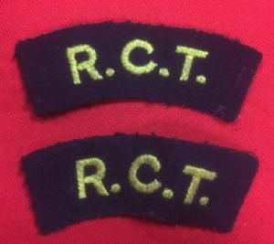 British Royal Corp Of Transport Shoulder Titles